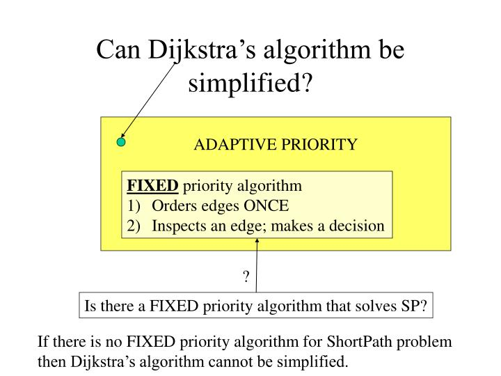 Can Dijkstra's algorithm be simplified?