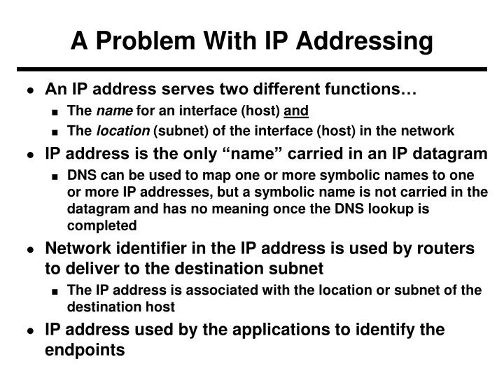 A Problem With IP Addressing