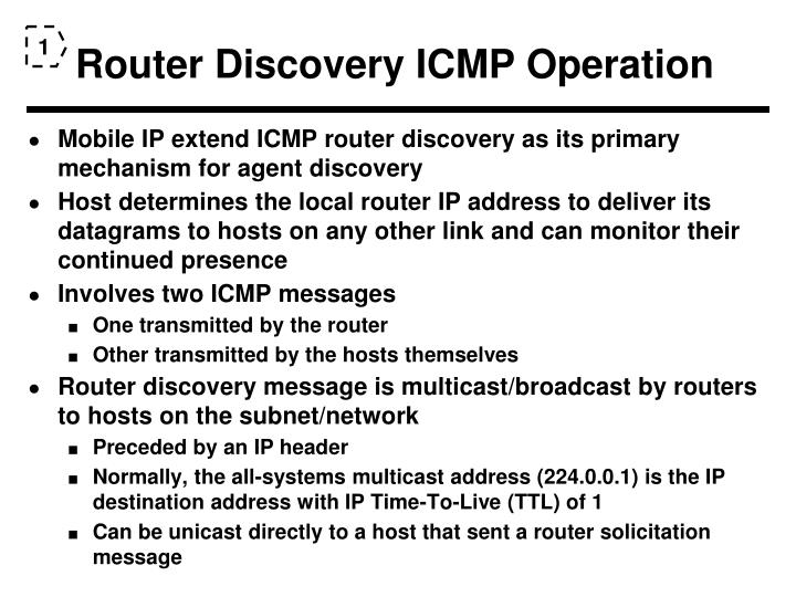 Router Discovery ICMP Operation