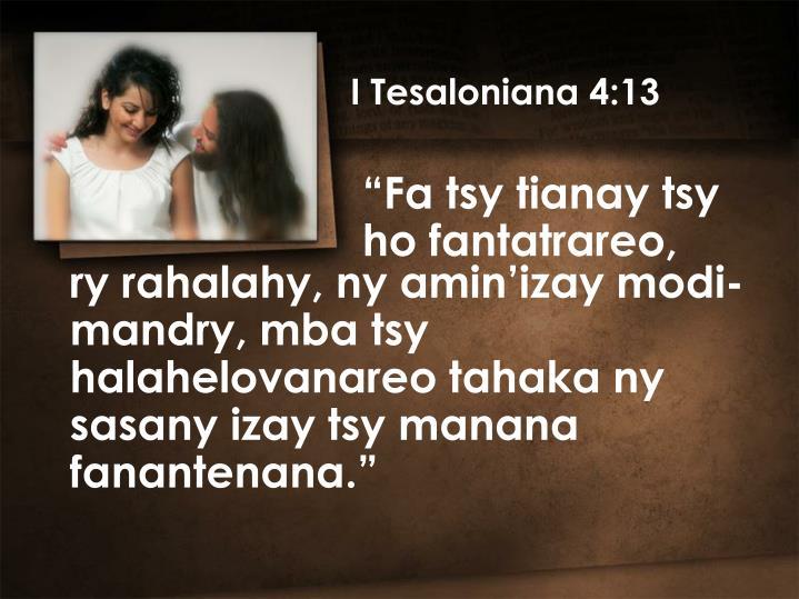 I Tesaloniana 4:13