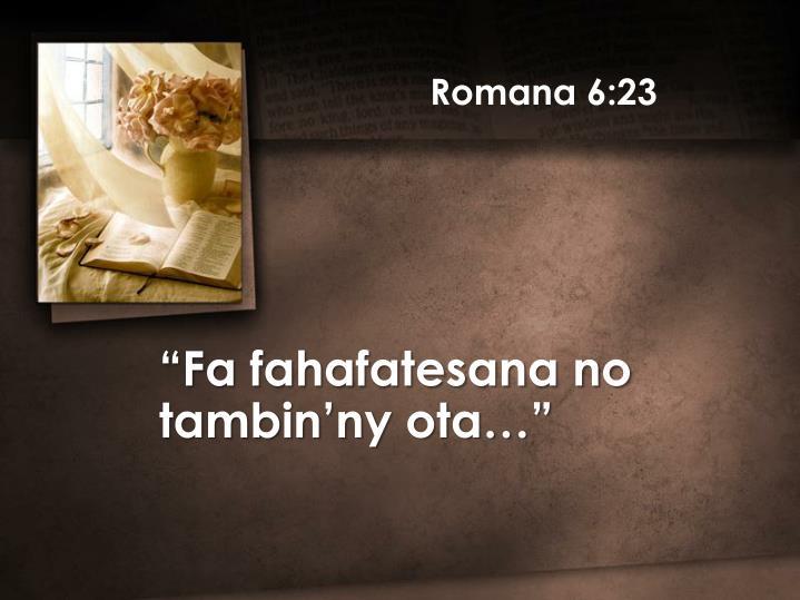 Romana 6:23