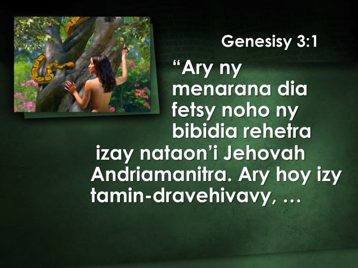 Genesisy 3:1