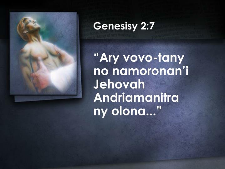 Genesisy 2:7