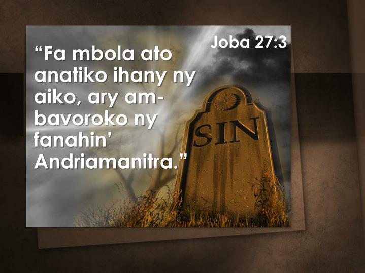 Joba 27:3
