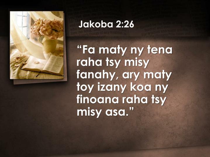 Jakoba 2:26