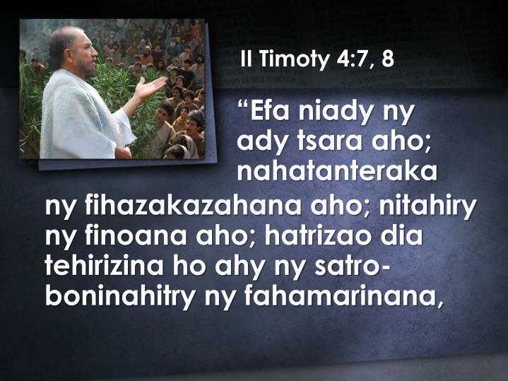 II Timoty 4:7, 8