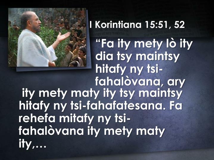 I Korintiana 15:51, 52