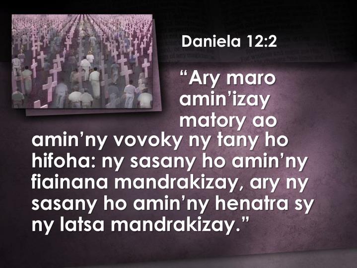 Daniela 12:2