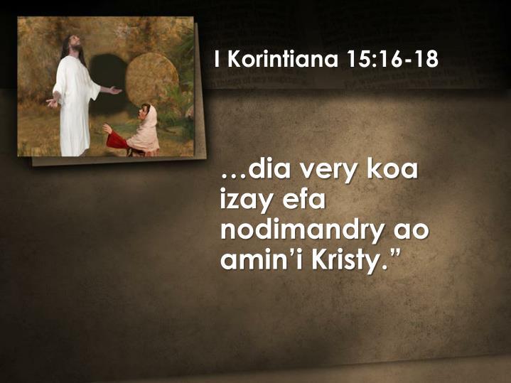 I Korintiana 15:16-18