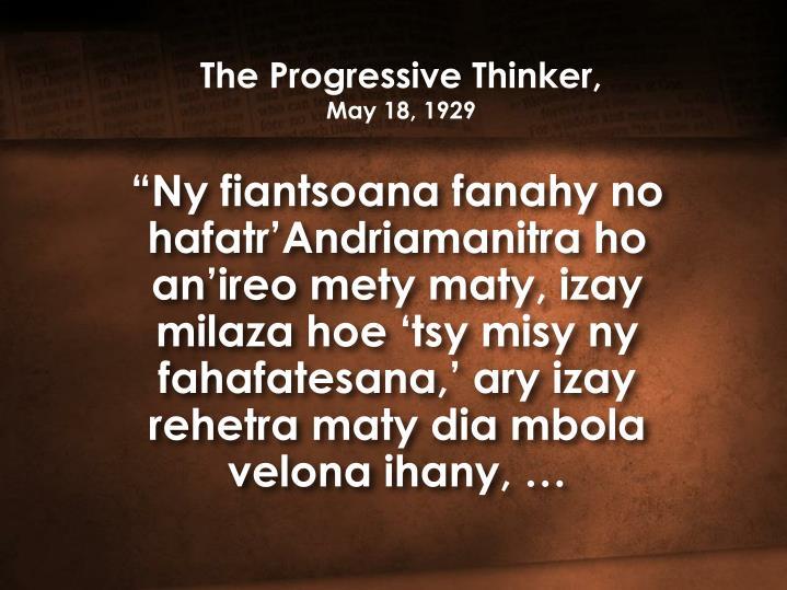 The Progressive Thinker,