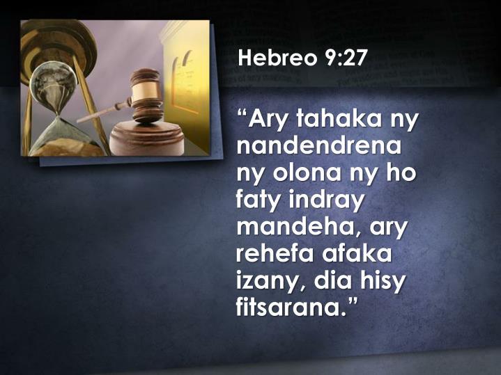 Hebreo 9:27
