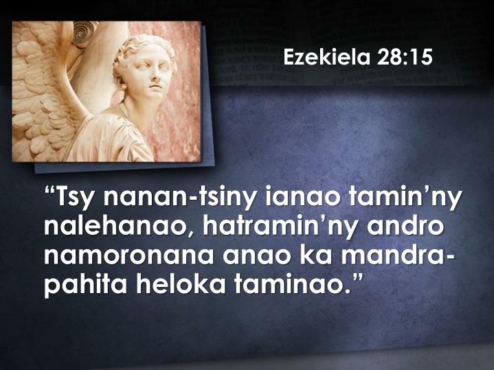 Ezekiela 28:15