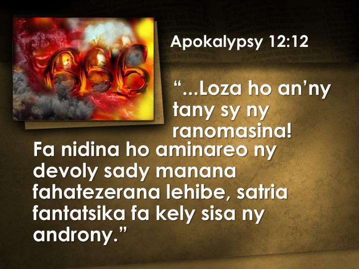 Apokalypsy 12:12