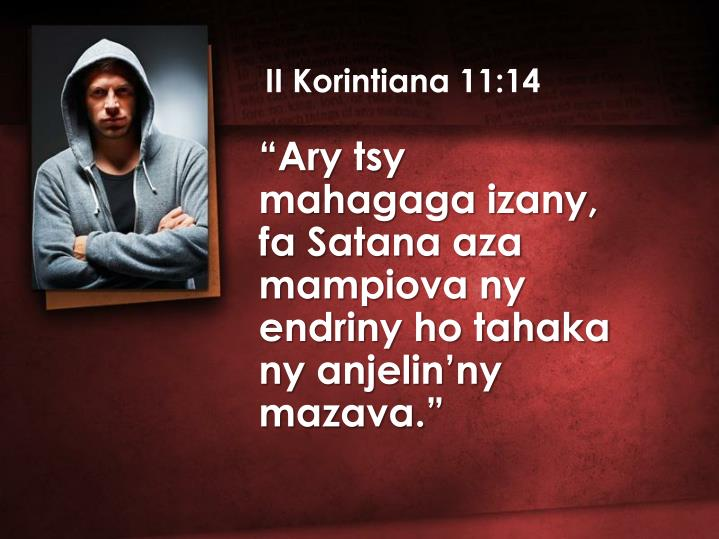 II Korintiana 11:14