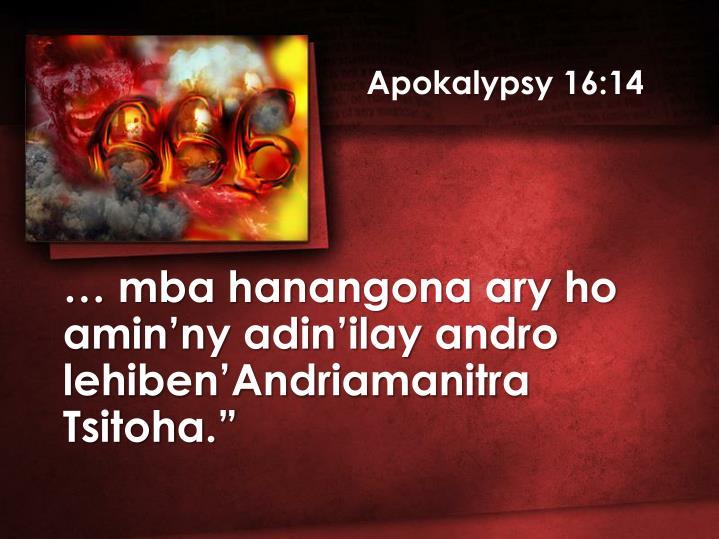 Apokalypsy 16:14