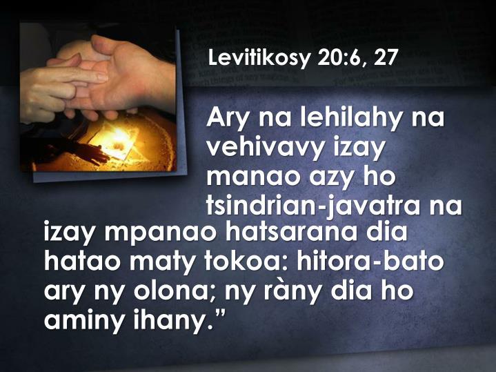 Levitikosy 20:6, 27