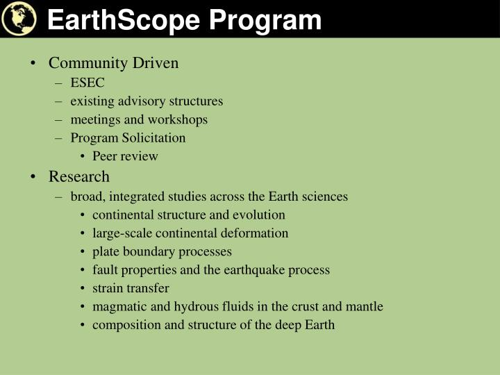 Earthscope program