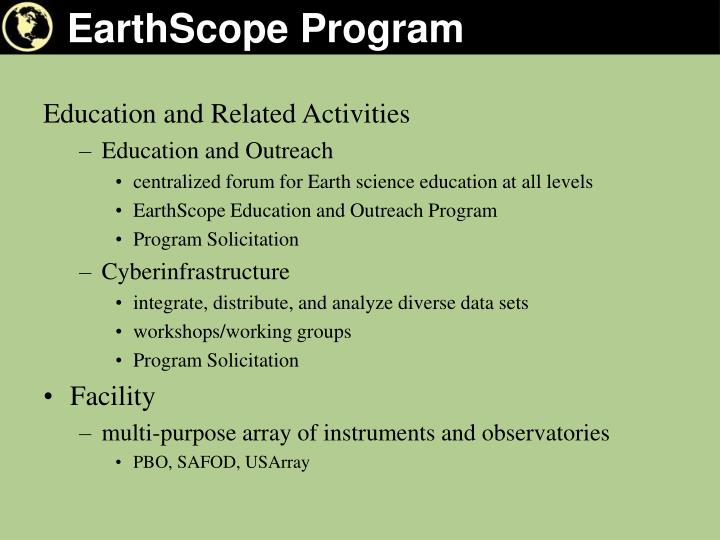 Earthscope program1