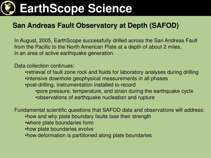EarthScope Science