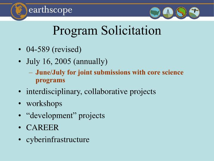 Program Solicitation