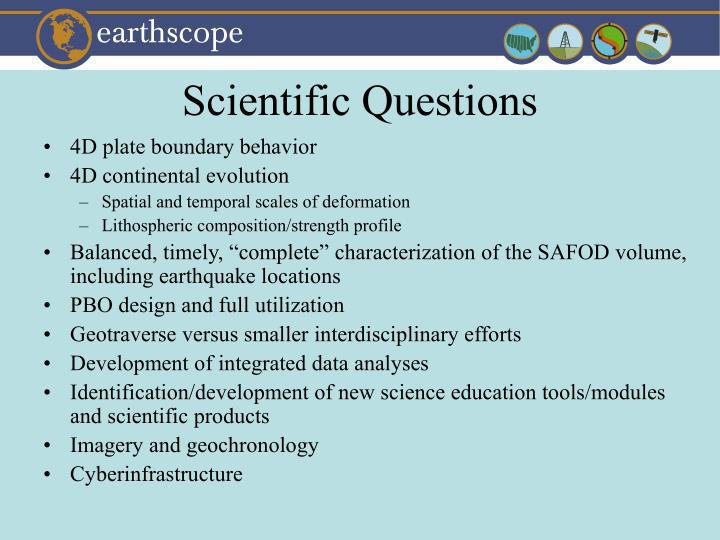 Scientific Questions