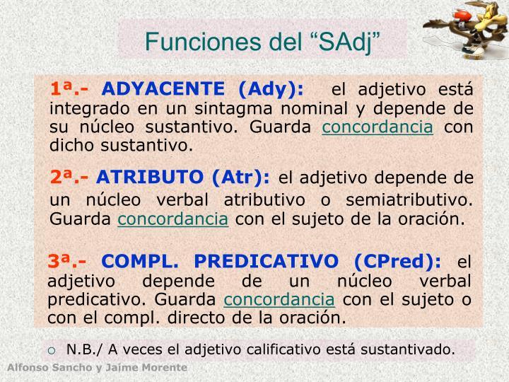 """Funciones del """"SAdj"""""""