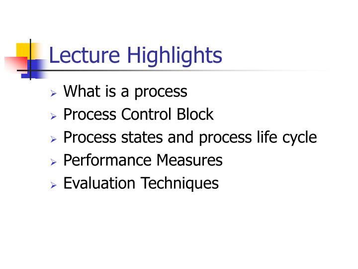 Lecture Highlights