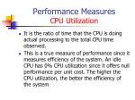 performance measures cpu utilization