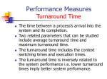 performance measures turnaround time