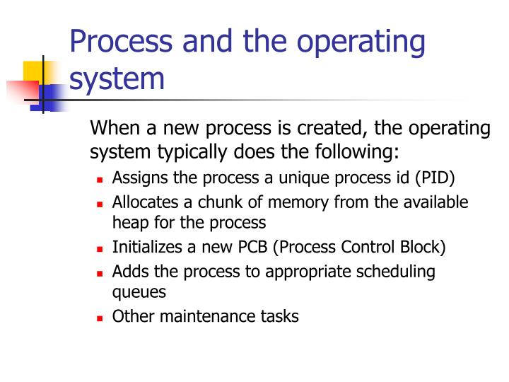 Process and the operating system