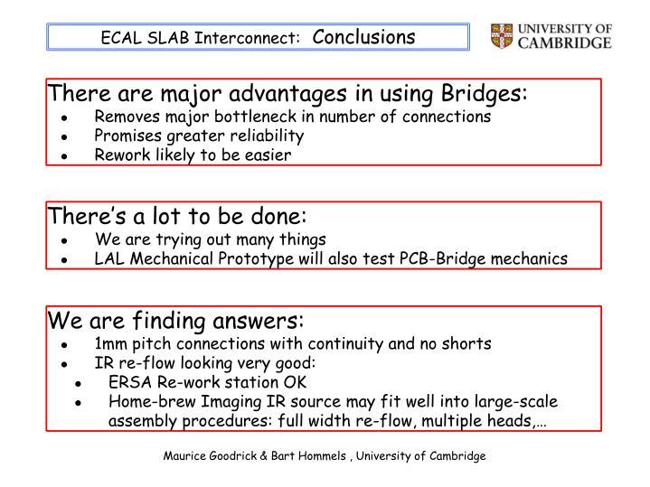 ECAL SLAB Interconnect: