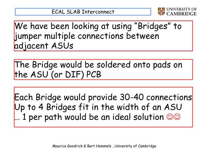 ECAL SLAB Interconnect