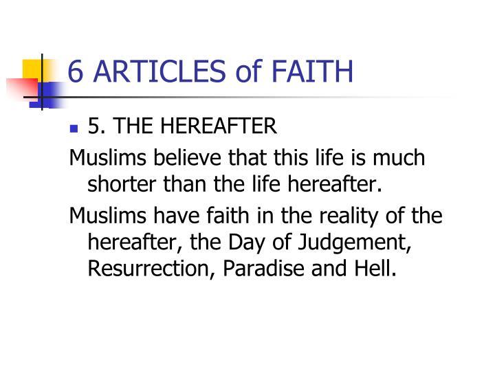 6 ARTICLES of FAITH