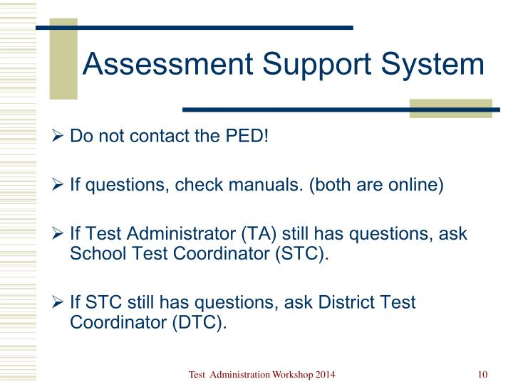 Assessment Support System