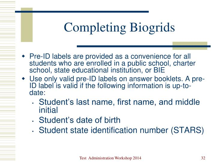 Completing Biogrids