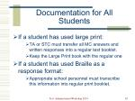 documentation for all students2