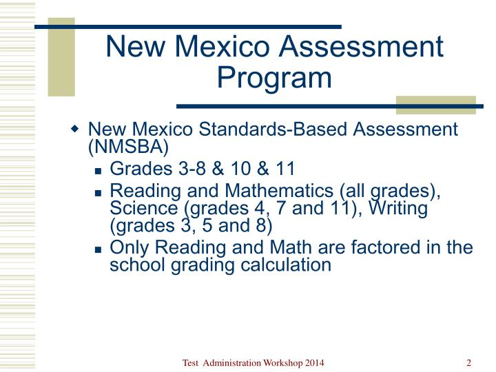 New Mexico Standards-Based Assessment (NMSBA)