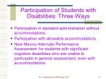 participation of students with disabilities three ways