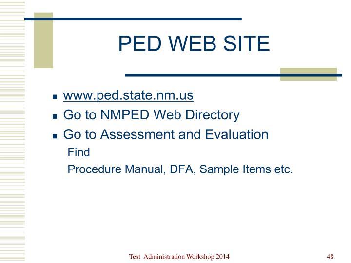 PED WEB SITE