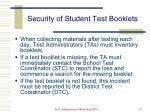 security of student test booklets1