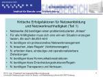kritische erfolgsfaktoren f r netzwerkbildung und netzwerknachhaltigkeit teil 1