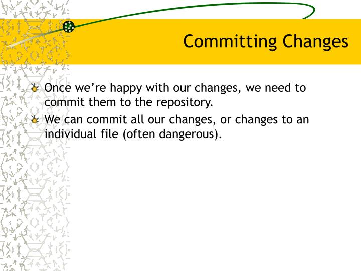 Committing Changes