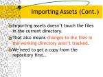 importing assets cont