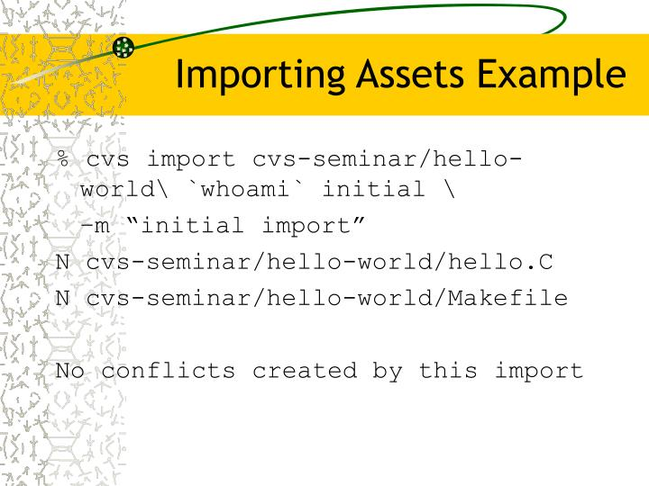 Importing Assets Example