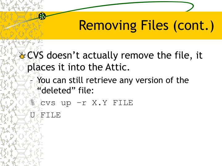 Removing Files (cont.)