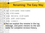 renaming the easy way