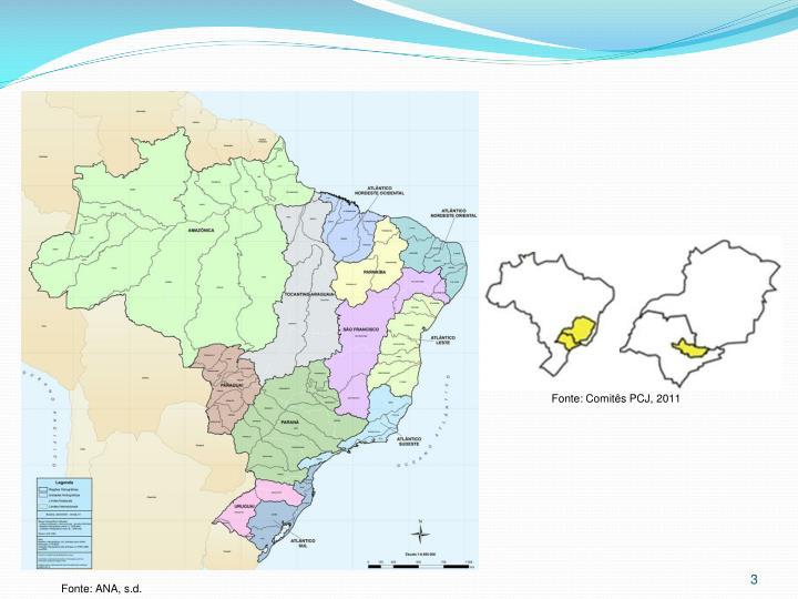 Fonte: Comitês PCJ, 2011