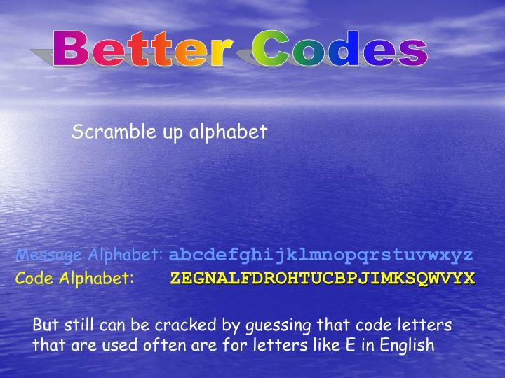 Better Codes