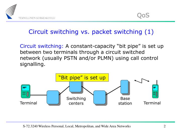 Circuit switching vs. packet switching (1)