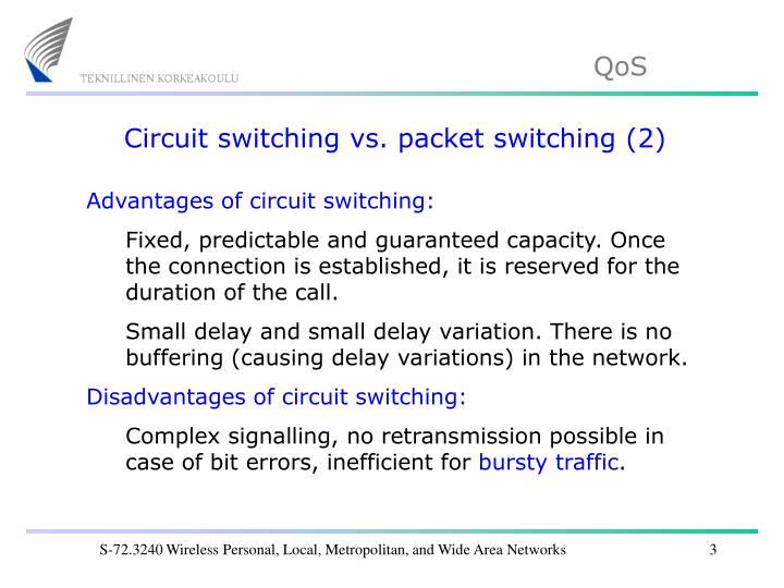 Circuit switching vs. packet switching (2)